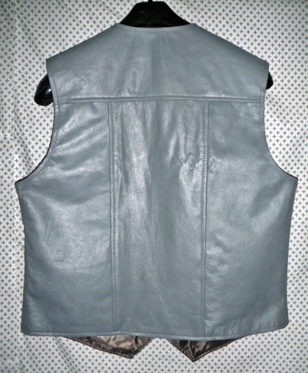 Leather vest style MLV720 Gray WWW.LEATHER-SHOP.BIZ back pic