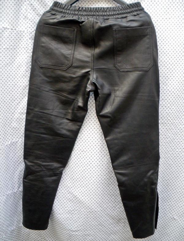 Lambskin Leather Sweat Pants Style LSP040 Justin Bieber replica custom made WWW.LEATHER-SHOP.BIZ back pic