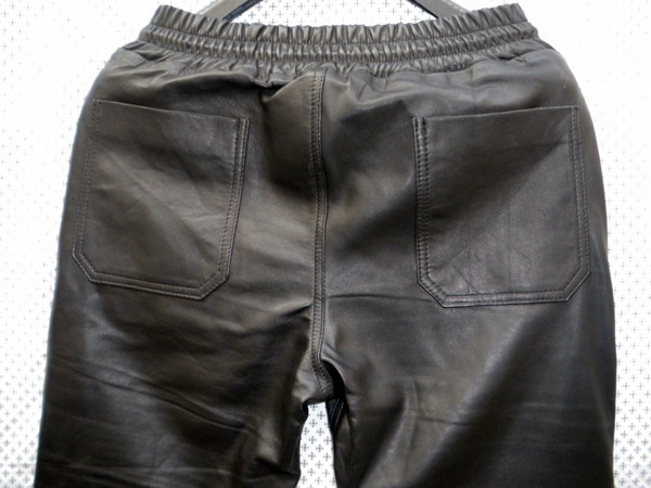 Lambskin Leather Sweat Pants Style LSP040 Justin Bieber replica custom made WWW.LEATHER-SHOP.BIZ back pockets pic