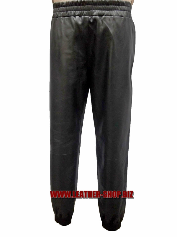 Leather sweat pants style LSP005 WWW.LEATHER-SHOP.BIZ back pic