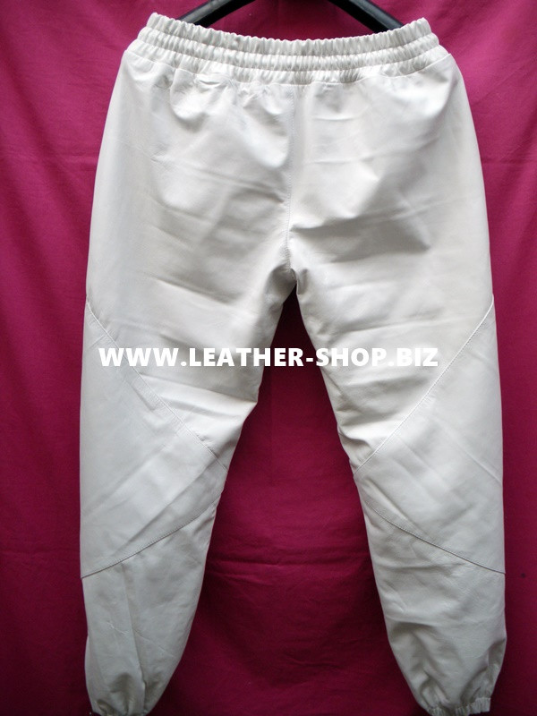 Mens Lambskin Leather Sweat Pants Style LSP100 Kanye West replica