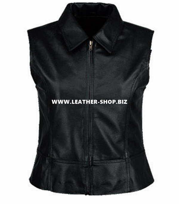 Ladies Leather Vest Style WLV1276 available in all sizes