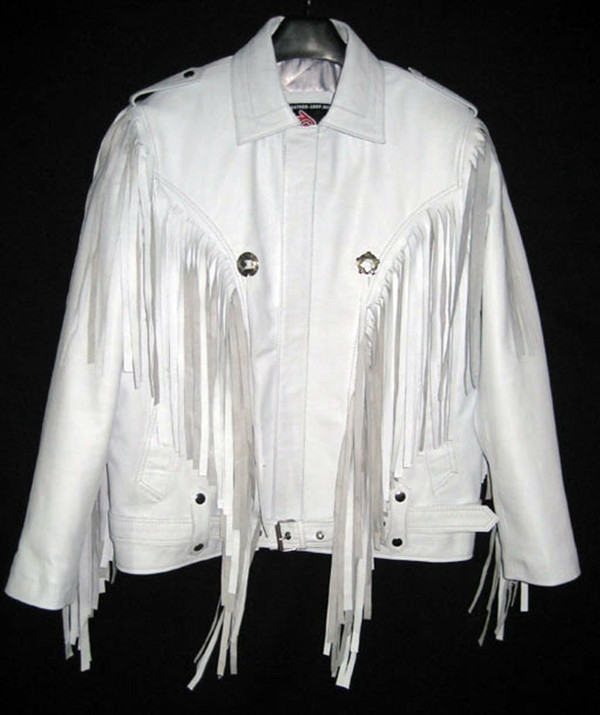 Leather Jacket With Fringe Custom Made Style MLFJ201 available in 8 Colors