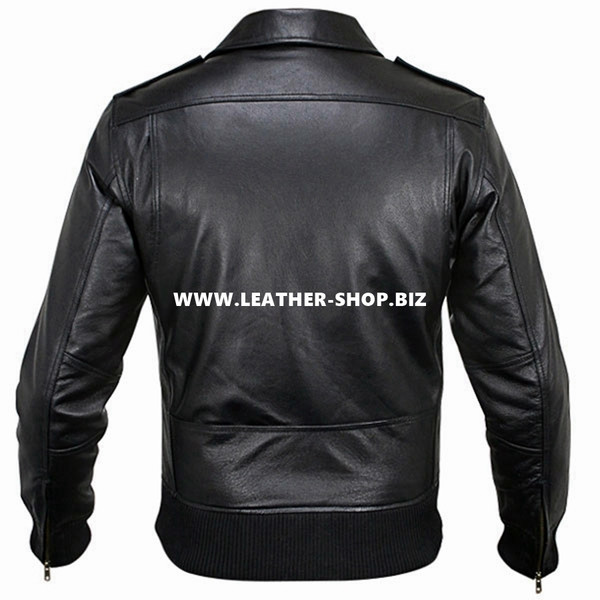 Leather Jacket Bomber Style MLJ0010B Custom Made In 8 Colors