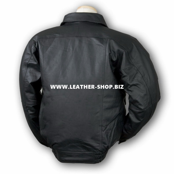 Leather Jacket Bomber Style MLJ0020B Custom Made In 8 Colors
