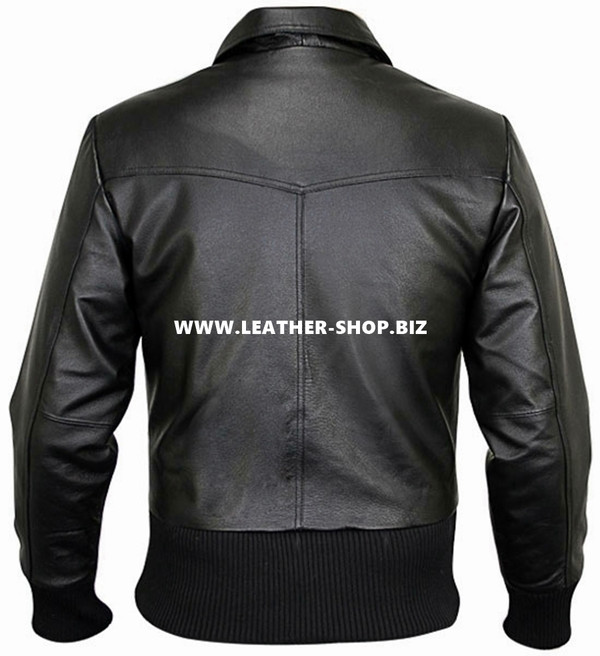 Leather Jacket Bomber Style MLJ0027B Custom Made In 8 Colors