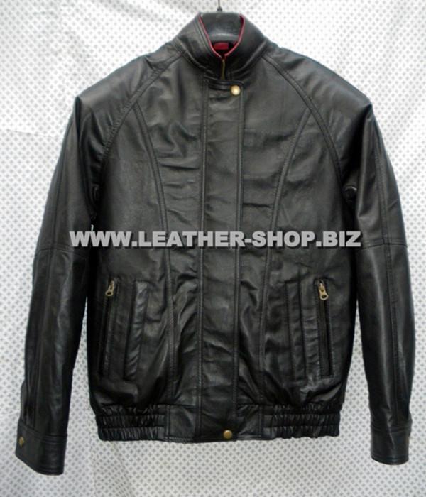 leather bomber jacket MLJ0032B front pic