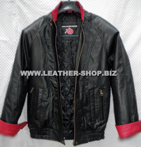 leather bomber jacket MLJ0032B front pic 2