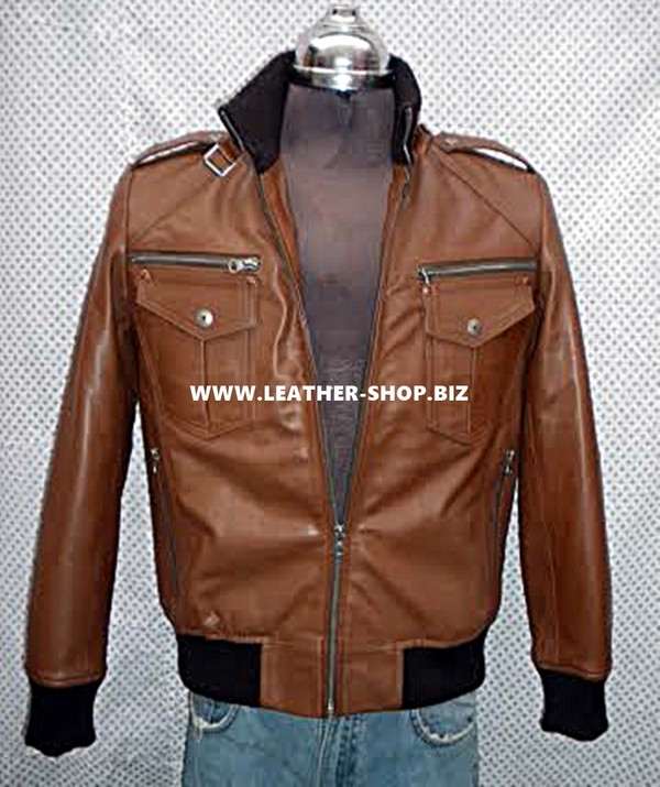 mens Bomber jacket custom made front pic 2