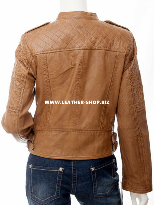 Leather jacket for Ladies custom made LLJ606 jacket back picture