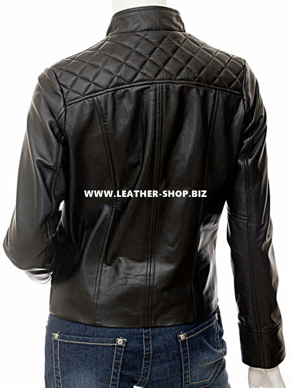 Custom leather jacket for ladies LLJ607 jacket back picture