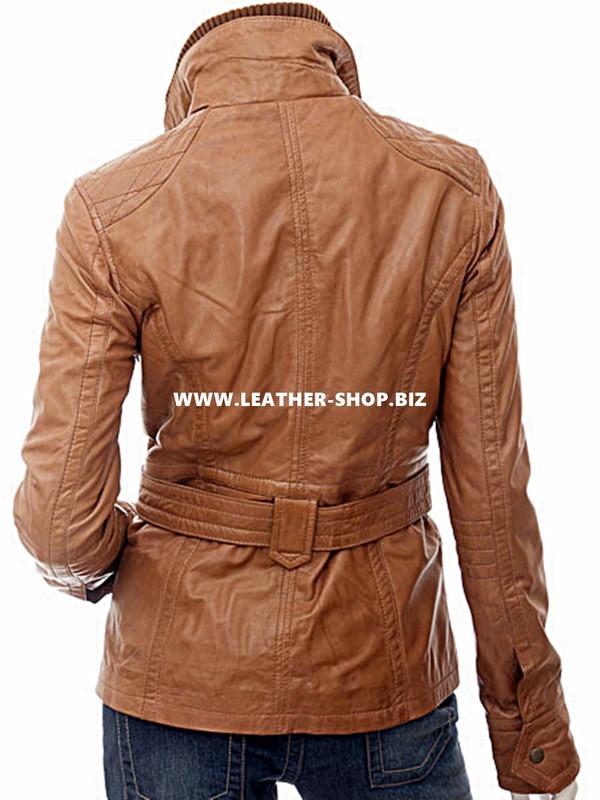 Leather jacket custom for ladies LLJ609 jacket back pic
