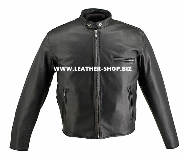 Horsehide Leather Motorcycle Jacket Cafe Racer Style 5570