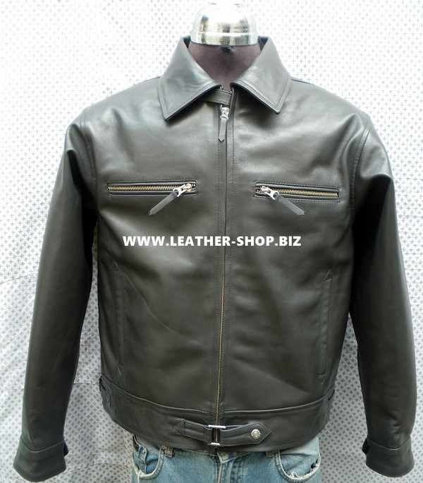 Luftwaffe fighter pilot style leather jacket MLJ101F front picture