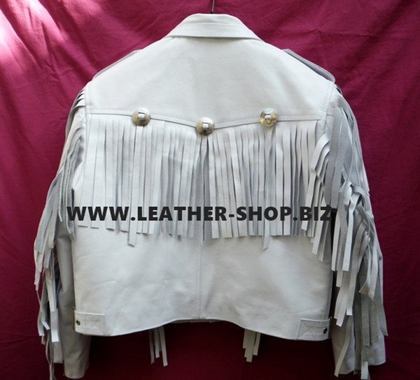 Leather Jacket With Fringe Custom Made Style MLFJ202 available in 8 colors
