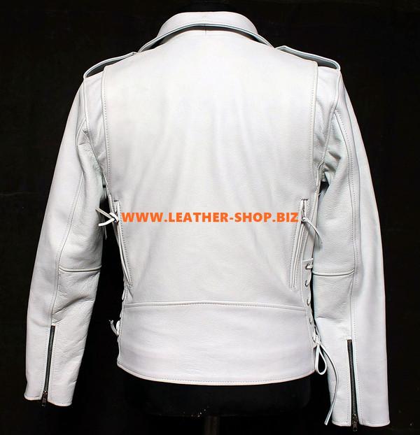 Ženska kožna jakna po mjeri izrađena u biciklističkom stilu LLJ007 izrađena u 9 bojama