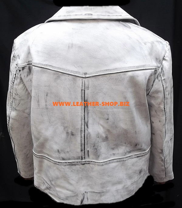 Leather Jacket Distressed Style MLJ114 Custom Made In 8 Colors