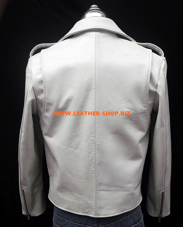 Leather Jacket Biker Style MLJ116 Custom Made In 8 Colors