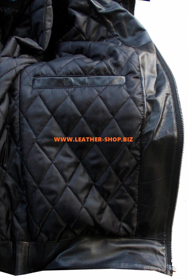 Lederjacke Racer Style mit Streifen MLJ236 Custom Made In 8 Colors