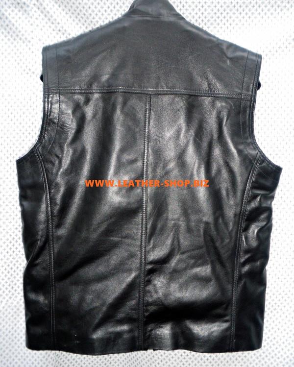 Muški kožni prsluk s odvojivim stilom obloge MLVL12 izrađen po mjeri