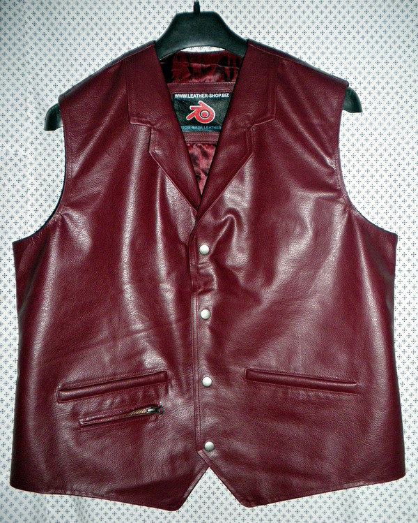 Mens Leather Vest Western Style MLV86 7 Colors Available