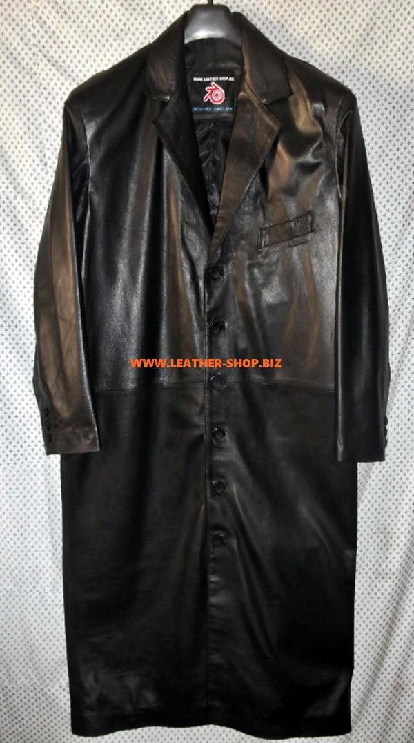 Leather Trench Coat Style MTC610 Custom Made Available In 8 Colors