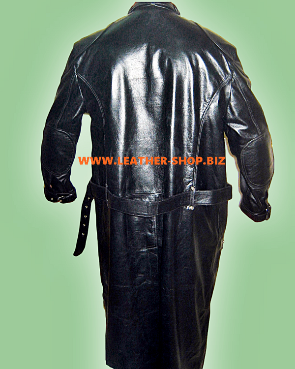 Leather Trench Coat Style MTC501 Custom Made Available In 8 Colors