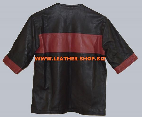 Camiseta de cuero estilo por encargo LTS001 Todos los largos de manga disponibles