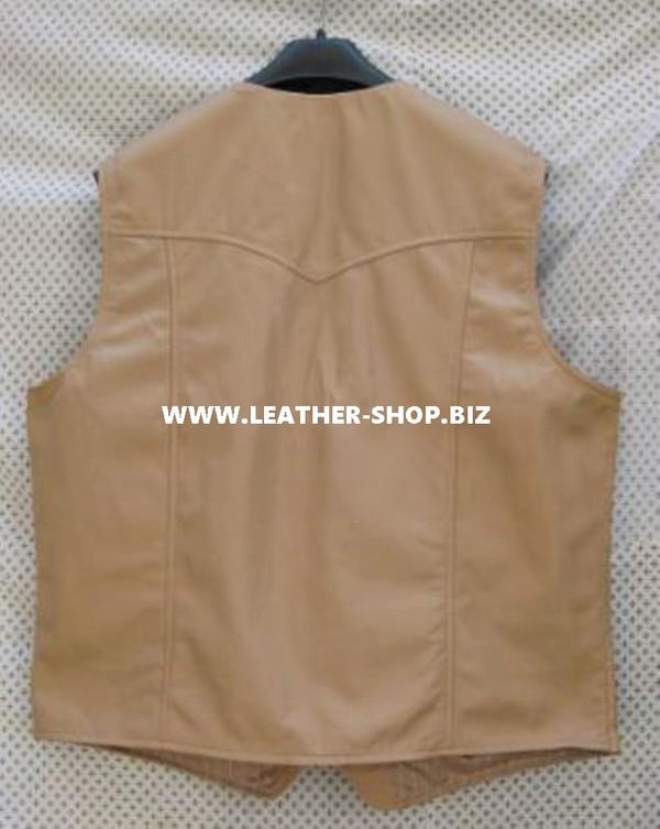 Мъжка кожена жилетка Western Style MLV84 7 Цветове на разположение