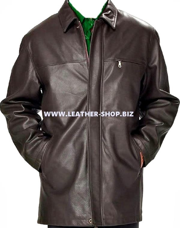 Men's leather Long Coat custom made style MLC536