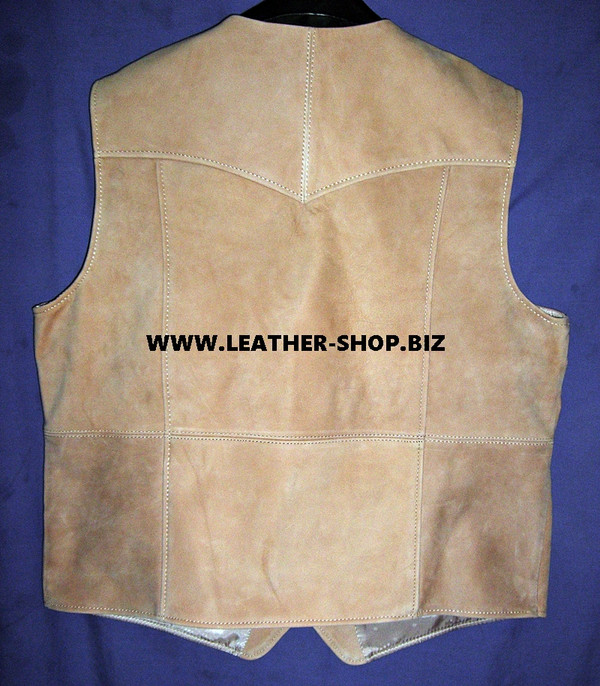 Mens Leather Vest Western Style MLV90 Custom Made
