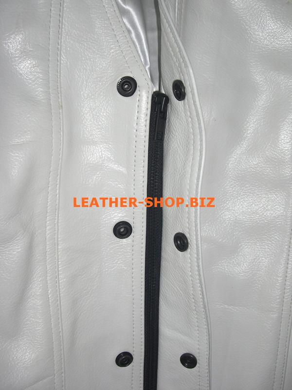 Mens leather vest style MLV1341 hidden front zipper pic