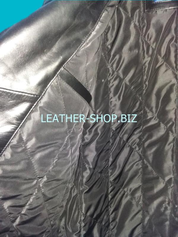 Inside pocket right side of mens fringe leather jacket MLJF210