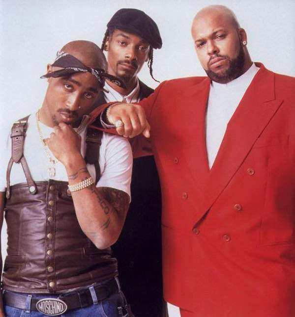 Tupac, Suge and Snoop - Tupac Shakur leather vest replica available at WWW.LEATHER-SHOP.BIZ vest front pic.
