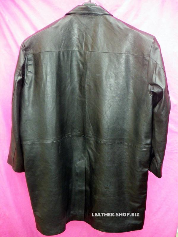 Leather Long Coat  Custom Made Style MLC542 WWW.LEATHER-SHOP.BIZ back of coat pic