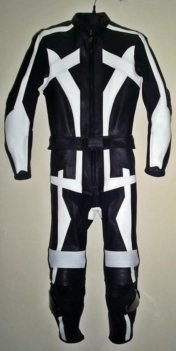 Ādas sacīkšu uzvalks pēc pasūtījuma - stils MS679 WWW.LEATHER-SHOP.BIZ priekšējais attēls