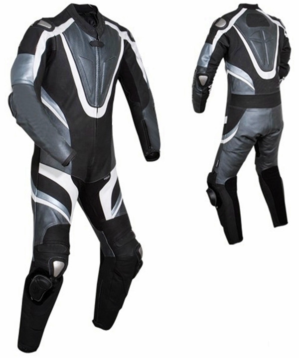 leather motorcycle suits made to order MS676 front and back of suit picture