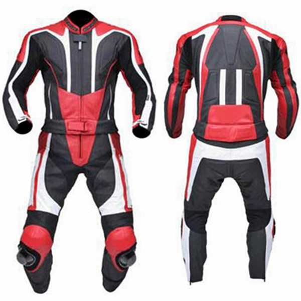 leather motorcycle suits made to order style MS333 suit fron and back picture