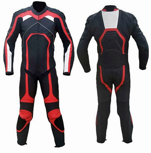 Leather racing suit custom made - style MS315 WWW.LEATHER-SHOP.BIZ front and back pic