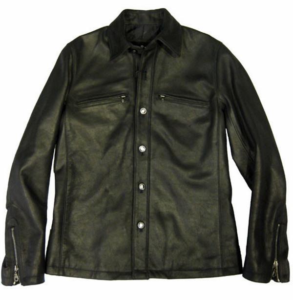 Leather shirt style LS066 www.leather-shop.biz front image