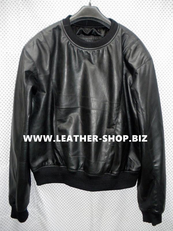 Lammfell Leder Sweat Shirt nach Maß LSS005