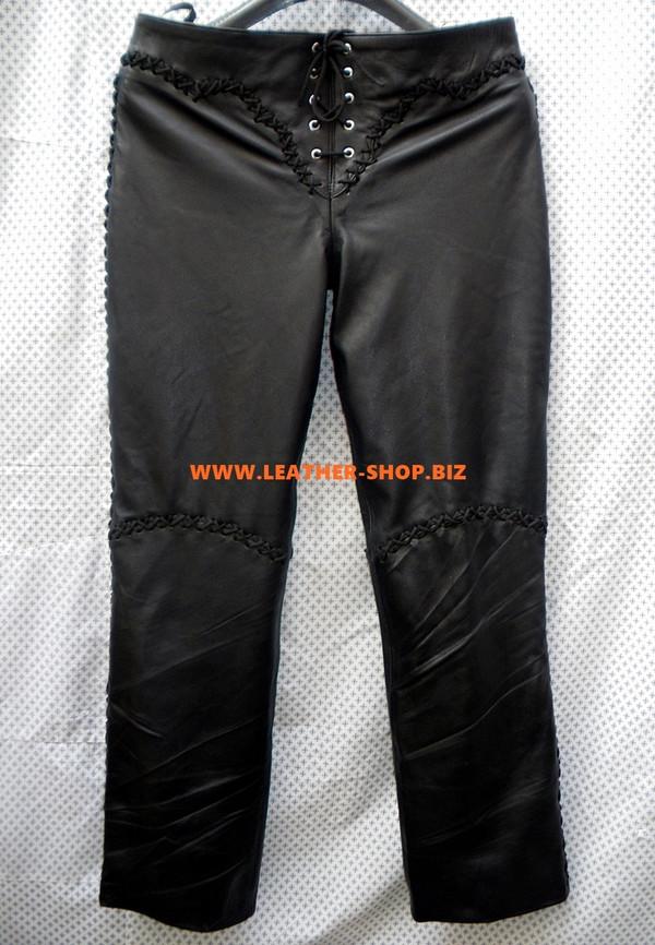 Womens Lambskin Leather Pants WLP222