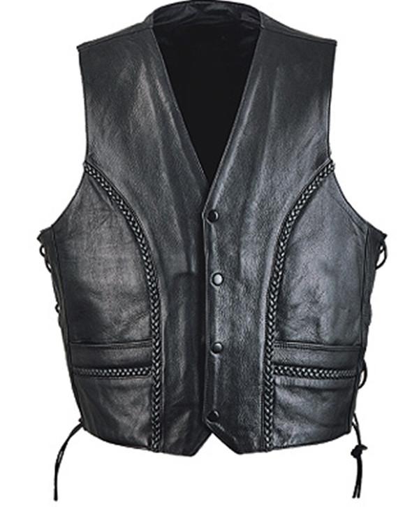 Leather vest style MLV1358 www.leather-shop.biz front pic