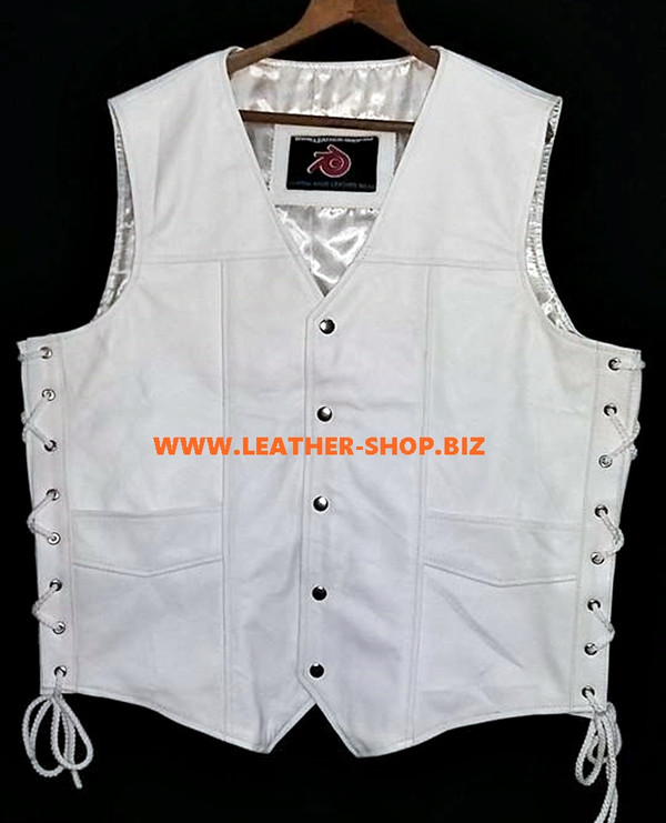 Mens Leather Vest Style MLV730