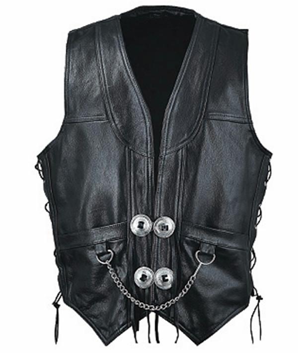 Leather vest 1376 www.leather-shop.biz front image