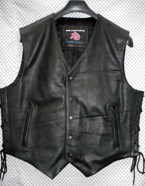 Leather Vest Style MLV740 no seams WWW.LEATHER-SHOP.BIZ front pic