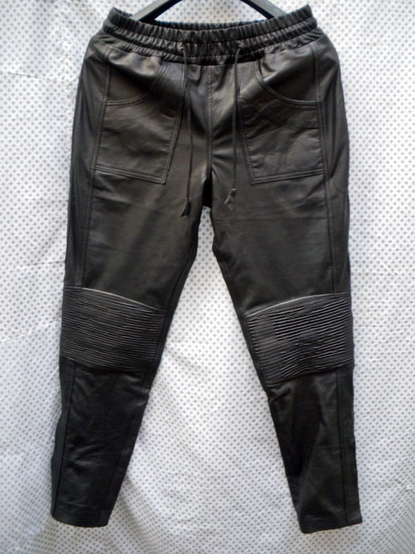 Lambskin Leather Sweat Pants Style LSP040 Justin Bieber replica custom made WWW.LEATHER-SHOP.BIZ front pic