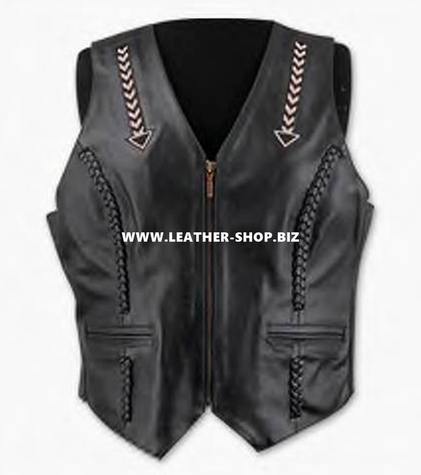 Ladies Leather Vest Style WLV1248 available in all sizes
