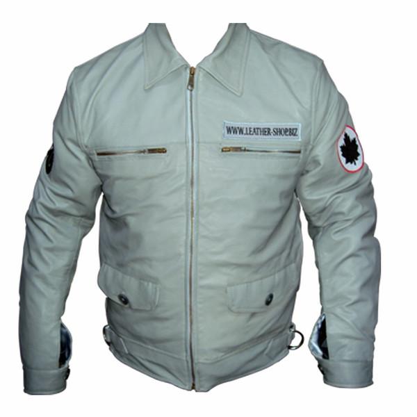 Lambskin ādas krekls cīnītājs pilots stils LS102F Custom Made In 8 krāsas