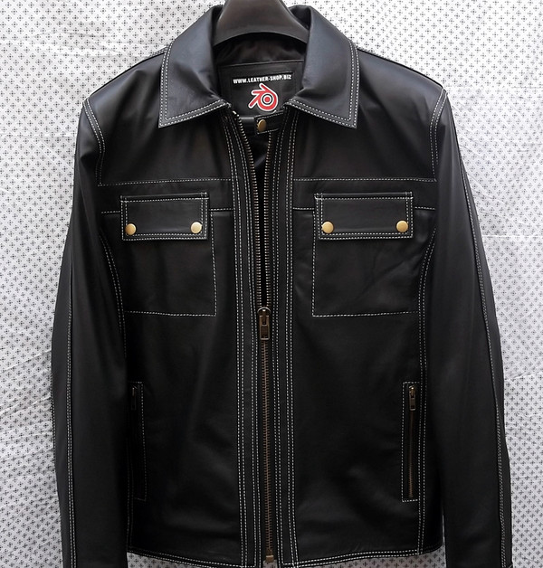 Leather Jacket Retro Style MLJ0095 Custom Made In 8 Colors